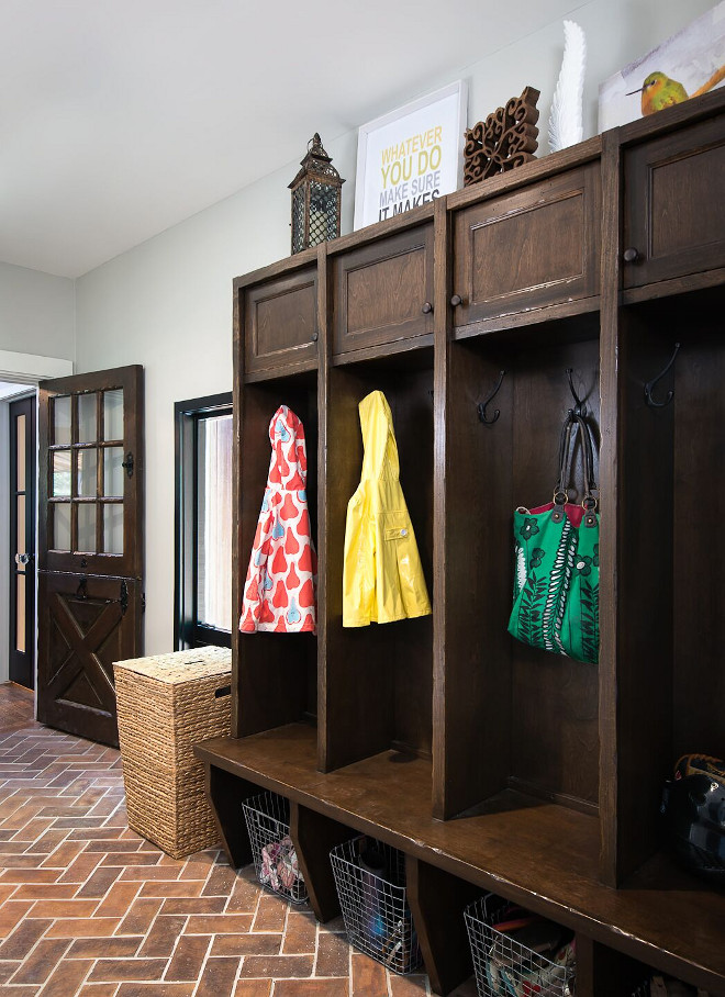 Mudroom Brick Floooring. How great is this farmhouse mudroom?! I love the distressed cabinets and the terracotta brick flooring. Brick Flooring is Ann Sacks Hacienda rectangular field tile in Tuscan Mustard.. Farmhouse Mudroom Brick Flooring. Mudroom Brick Floooring. Brick Flooring. Farmhouse Mudroom Brick Flooring. Mudroom Brick Floooring. Brick Flooring. Farmhouse Mudroom Brick Flooring. Mudroom Brick Floooring. Brick Flooring. Farmhouse Mudroom Brick Flooring #MudroomBrickFloooring #BrickFlooring #FarmhouseMudroom #FarmhouseBrick #Farmhouse #mudroom #FarmhouseFlooring #mudroomFlooring #Flooring reDesign home llc