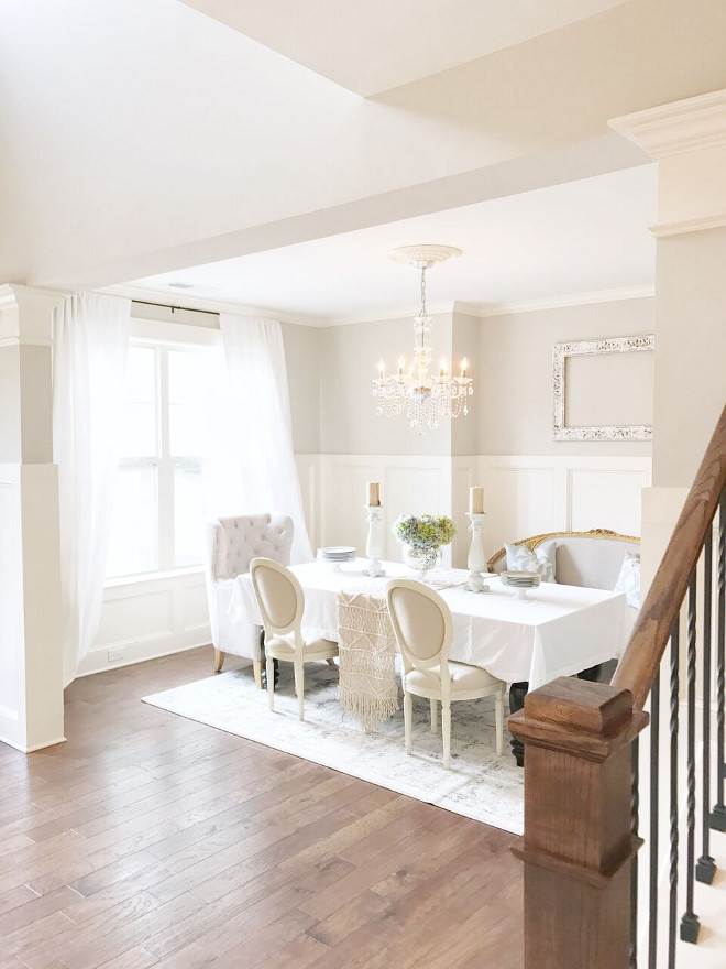 Neutral Dining Room Paint Color Accessible Beige By Sherwin Williams