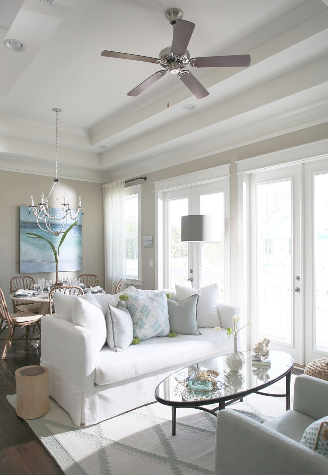 Beach cottage with small neutral coastal interiors home for Neutral interior decorating