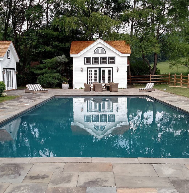 Pool House. Pool House Ideas. Pool with pool house #pool #poolhouse Toolbox Construction Inc