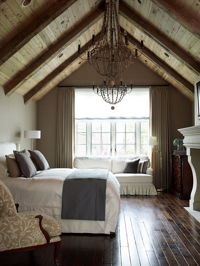 Vaulted Ceiling Bedroom Accent Wall
