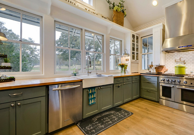 Sherwin Williams 6207 Retreat. The lower cabinet paint is Sherwin Williams 6207 Retreat. Sherwin Williams 6207 Retreat #SherwinWilliams6207Retreat Van Wicklen Design