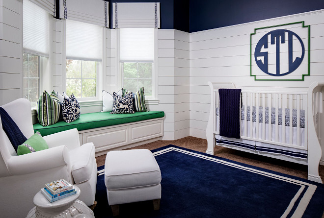 Shiplap Nursery. Shiplap Nursery. Nursery features shiplap paneling and window seat with storage. Shiplap Nursery. Shiplap Nursery. Shiplap Nursery #Shiplap #Nursery #ShiplapNursery Tracy Lynn Studio