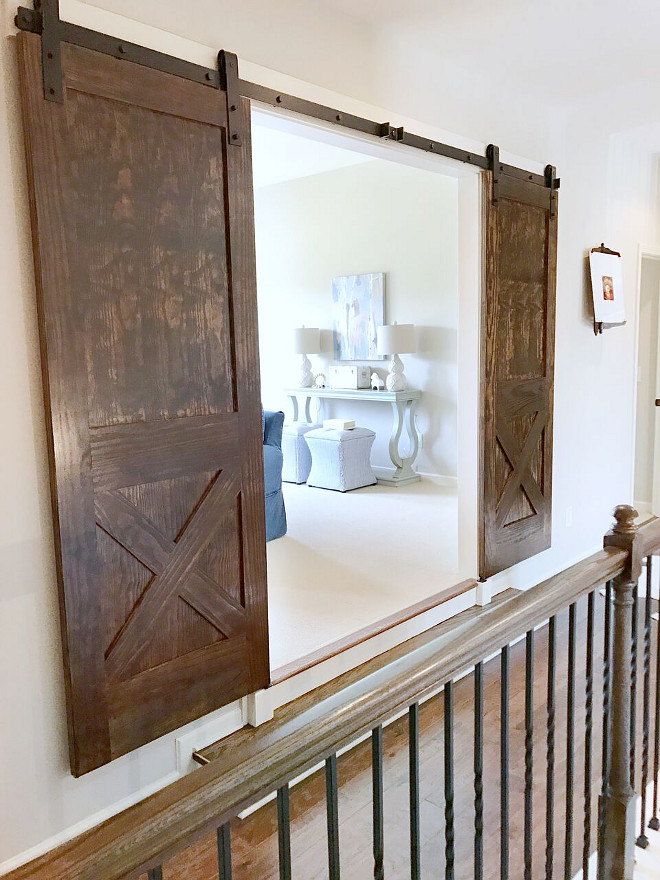 Sliding Barn Doors. Sliding Barn Doors. We chose a rustic wood barn doors for this space. Sliding Barn Doors Hardware. Sliding Barn Doors. Sliding Barn Doors. Sliding Barn Doors Hardware #SlidingBarnDoors #SlidingBarnDoor #SlidingBarnDoorsHardware Beautiful Homes of Instagram @sugarcolorinteriors
