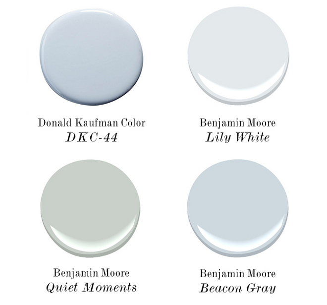 Soft Beachy Paint Colors Donald Kaufman Color DKC-44. Benjamin Moore Lily White. Benjamin Moore Quiet Moments. Benjamin Moore Beacon Gray #SoftBeachyPaintColors. #BeachyPaintColors #SoftPaintColors #SoftBeachyPaints #DonaldKaufmanColorDKC44 #BenjaminMooreLilyWhite #BenjaminMooreQuietMoments #BenjaminMooreBeaconGray Via Pinterest