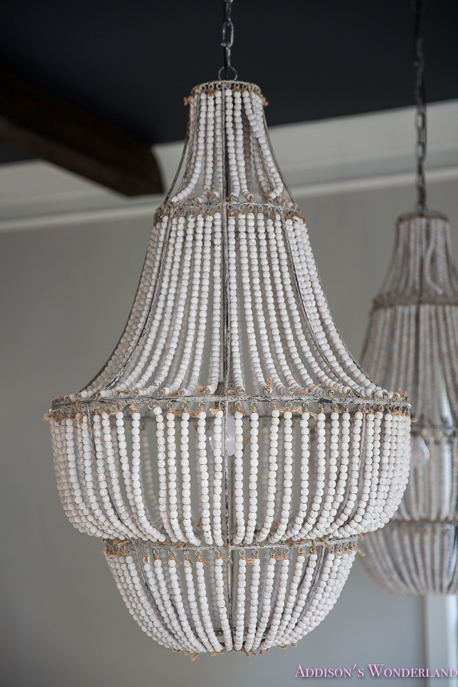 Beaded Chandeliers. Beaded chandelier. Beaded chandelier is Flirt 1-Light Crystal Chandelier by Creative Co-Op - $650 each Home Bunch's Beautiful Homes of Instagram @addisonswonderland