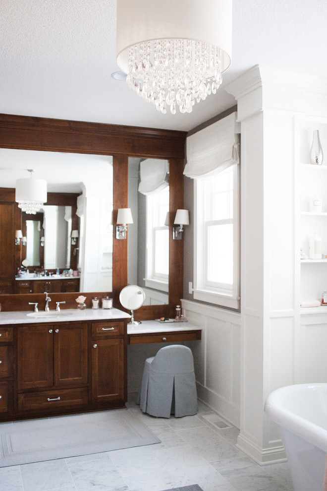 Bathroom Cabinet with make-up vanity. Bathroom Cabinet with make-up vanity ideas. Bathroom Cabinet with make-up vanity layout. Bathroom Cabinet with make-up vanity #Bathroom #Cabinet #makeupvanity Bria Hammel Interiors