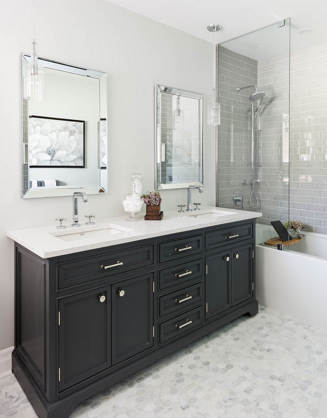 Bathroom Vanity. Bathroom Vanity. Non custom bathroom vanity. Bathroom vanity is from Restoration Hardware #Bathroom #Vanity #BathroomVanity #RestorationHardware Carriage Lane Design-Build Inc.