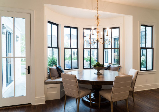 Bow Window Breakfast room ideas. Black steel Bow Window Breakfast room. Bow Window Breakfast room ideas #BowWindows #blacksteelwindows #Windows #Breakfastroom #Breakfastroomideas #Breakfastroomwindows #breakfastroomblackwindows Ramage Company
