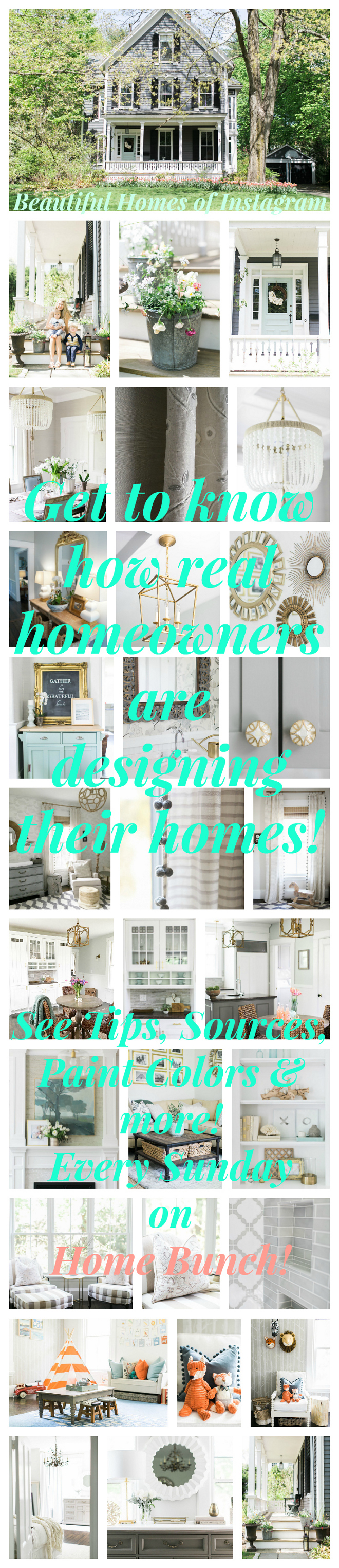 Beautiful Homes of Instagram. Get to know how real homeowners are designing their homes! Every Sunday on HomeBunch