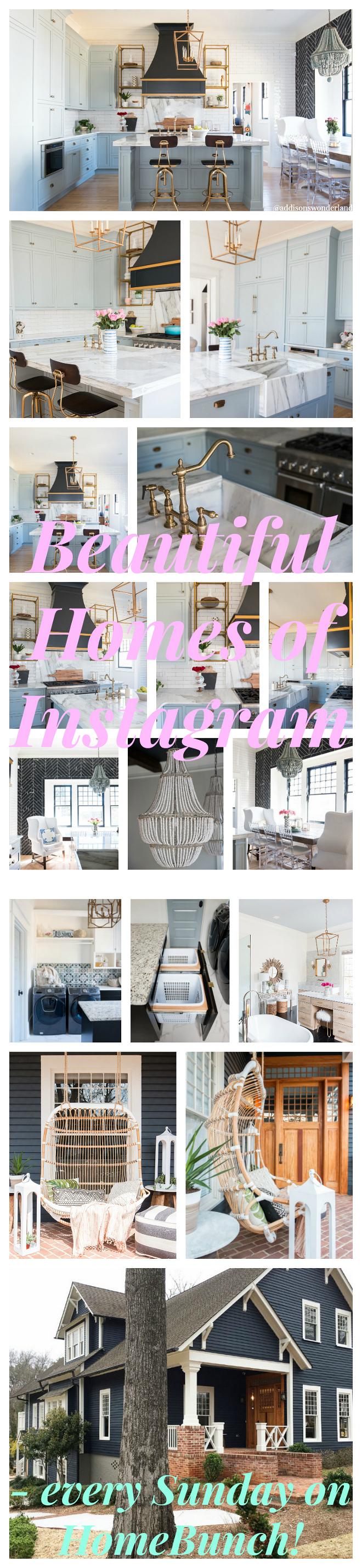 Beautiful Homes of Instagram - a weekly series showcasing real homes from instragram with all sources, including paint colors! Home Bunch