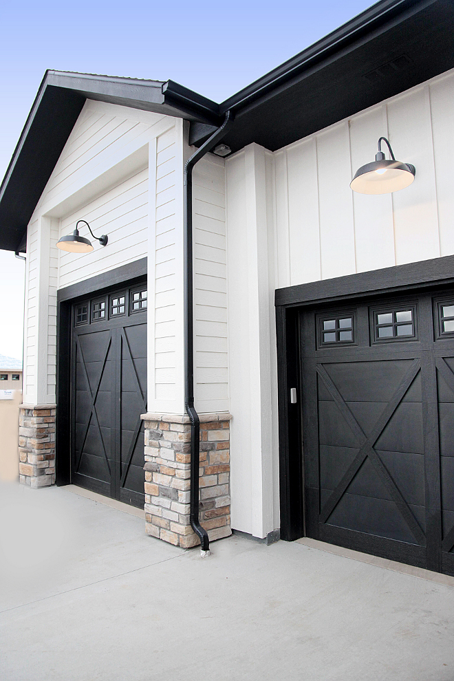 Black Garage Door Paint Color. Black Garage Door Paint Color Ideas. Black Garage Door Paint Color: Sherwin Williams Tricorn Black. Black Garage Door Paint Color #BlackGarageDoor #PaintColor #SherwinWilliamsTricornBlack #BlackGarageDoorPaintColor #BlackGarageDoor #PaintColor #GarageDoorPaintColor Home Bunch's Beautiful Homes of Instagram @household no.6