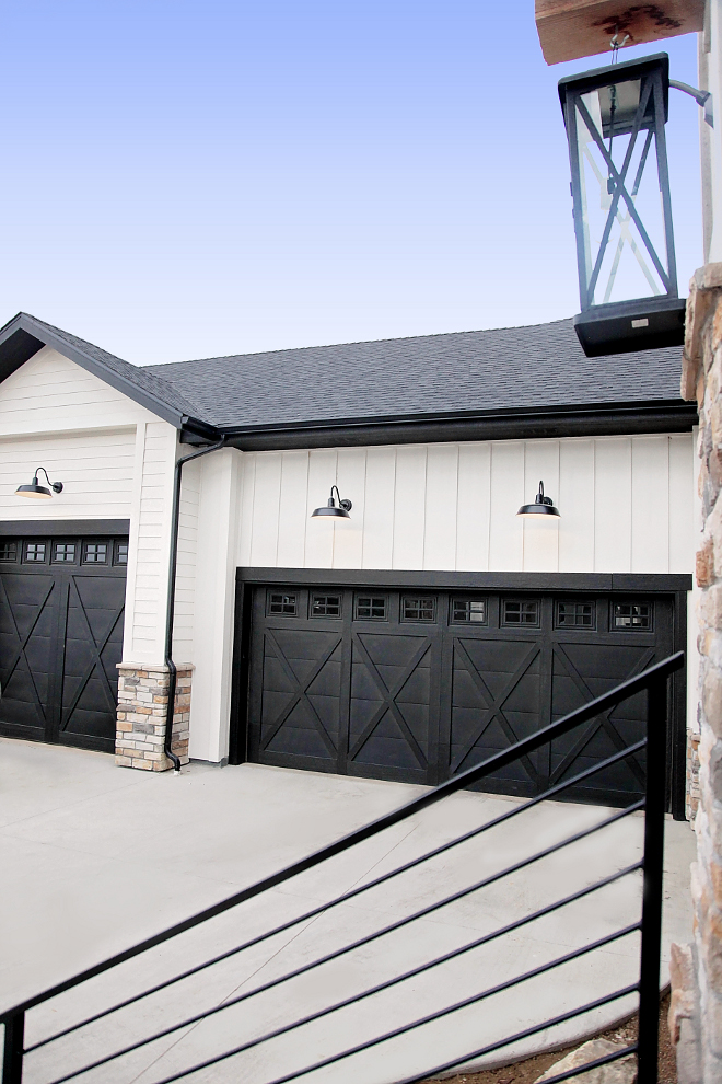 Black Garage Door. White Modern Farmhouse with Black Garage Doors. Black Garage Door. White Modern Farmhouse with Black Garage Doors. Black Garage Door. White Modern Farmhouse with Black Garage Doors. Black Garage Door. White Modern Farmhouse with Black Garage Doors #BlackGarageDoor #WhiteModernFarmhousewithBlackGarageDoors #WhiteModernFarmhouse #BlackGarageDoors #ModernFarmhouse #ModernFarmhouseGarage Home Bunch's Beautiful Homes of Instagram @household no.6