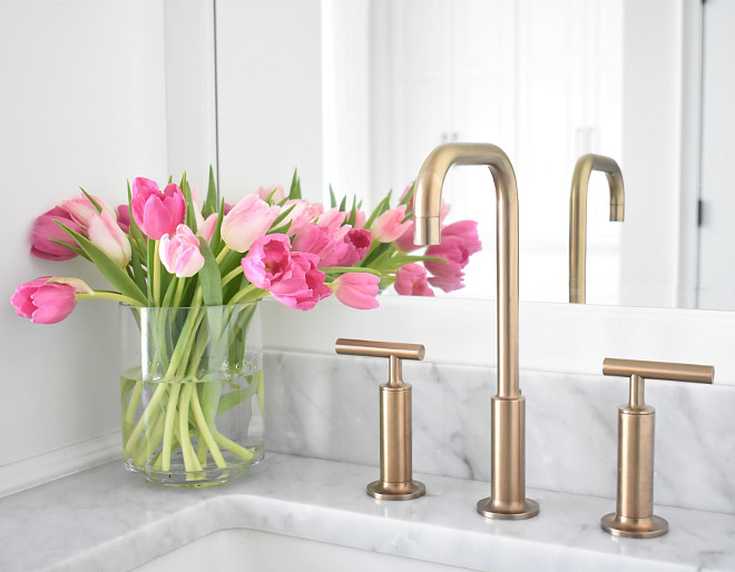 Brushed Gold Faucet. Brushed Gold Faucets. Kohler Purist brushed gold. Brushed Gold Faucet Ideas. Brushed Gold Faucet #BrushedGoldFaucet #BrushedGold #Faucet #Kohler #Purist #BrushedGold Kate Abt Design