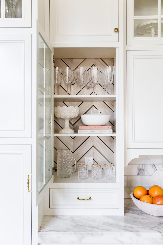 Cabinet Back Ideas. Herringbone Cabinet Back. Cabinet Back Ideas. Herringbone Cabinet Back #CabinetBackIdeas #Cabinet #Herringbone #HerringboneCabinetBack rachel parcell pink peonies kitchen