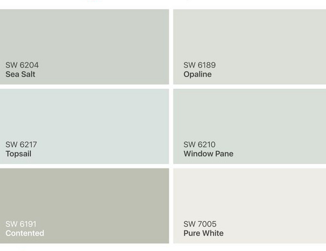 Calming Paint Color. Calm Paint Colors. Calming Color Palette Sherwin Williams SW 6204 Sea Salt. Sherwin Williams SW 6189 Opaline. Sherwin Williams SW 6217 Topsail. Sherwin Williams SW 6210 Window Pane. Sherwin Williams SW 6191 Contented. Sherwin Williams SW 7005 Pure White. Calming Paint Color. Calm Paint Colors. Calming Color Palette Sherwin Williams SW 6204 Sea Salt. Sherwin Williams SW 6189 Opaline. Sherwin Williams SW 6217 Topsail. Sherwin Williams SW 6210 Window Pane. Sherwin Williams SW 6191 Contented. Sherwin Williams SW 7005 Pure White. Calming Paint Color. Calm Paint Colors. Calming Color Palette Sherwin Williams SW 6204 Sea Salt. Sherwin Williams SW 6189 Opaline. Sherwin Williams SW 6217 Topsail. Sherwin Williams SW 6210 Window Pane. Sherwin Williams SW 6191 Contented. Sherwin Williams SW 7005 Pure White #Calming Paint Color. Calm Paint Colors. Calming Color Palette Sherwin Williams SW 6204 Sea Salt. #SherwinWilliamsSW6189Opalin #SherwinWilliamsSW6217Topsail #SherwinWilliamsSW6210WindowPane #SherwinWilliamsSW6191Contented #SherwinWilliamsSW7005PureWhite