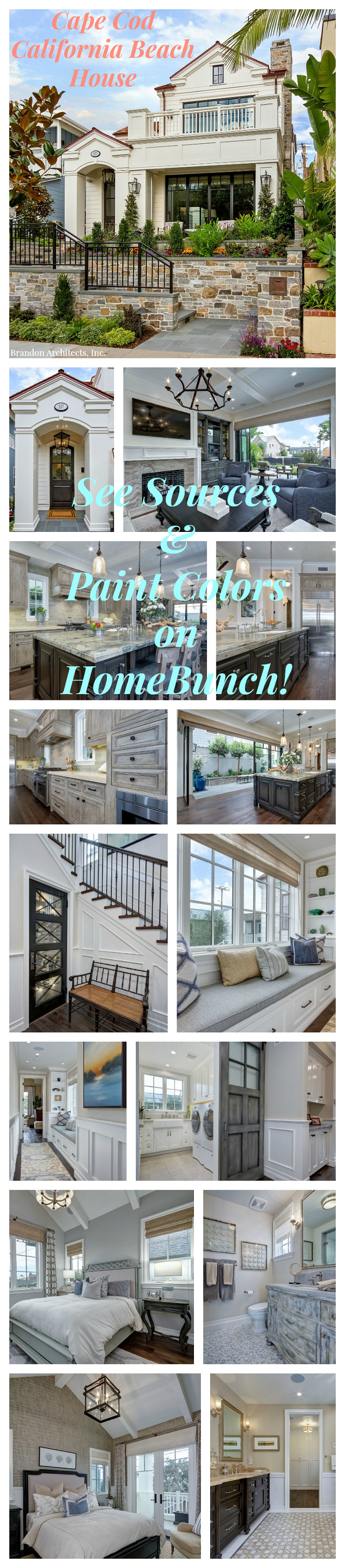 Cape Cod California Beach House. Cape Cod California Beach House #CapeCod #California #BeachHouse More details on Home Bunch