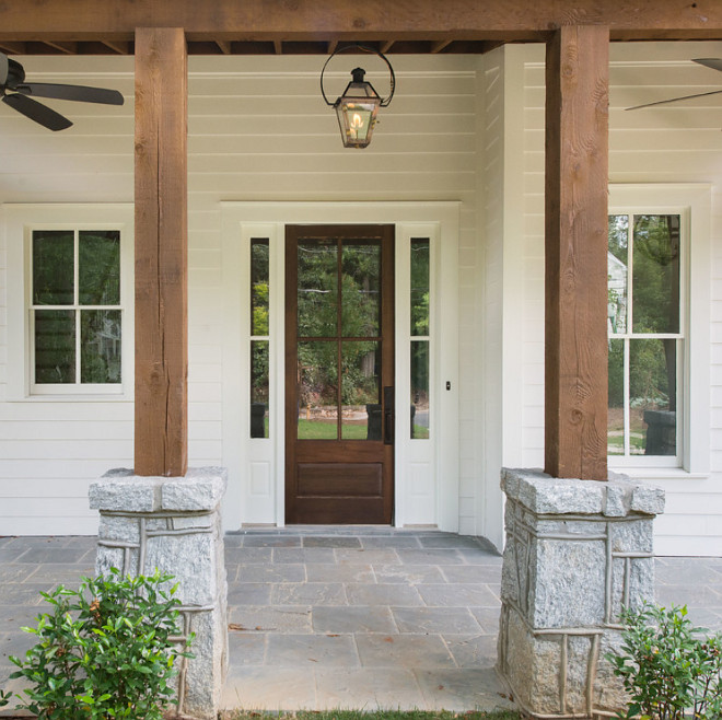 Cedar and stone columns. Farmhouse Cedar and stone porch columns.Cedar and stone columns. Farmhouse Cedar and stone porch columns #Cedarcolumns #cedarandstonecolumns #FarmhouseCedarandstone #porchcolumns Thrive Homes, LLC
