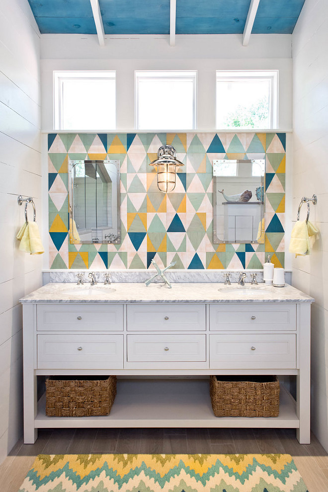 Coastal Cottage Attic Bathroom Remodel Home Bunch Interior Design Ideas