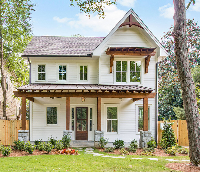 Farmhouse Cottage . Farmhouse Cottage Exterior. Exterior features Cedar columns. Farmhouse Cottage with front porch exterior. Farmhouse Cottage #Farmhouse #Cottage #Farmhouse #Farmhouseexterior #farmhouseporch #farmhousecottage Thrive Homes, LLC