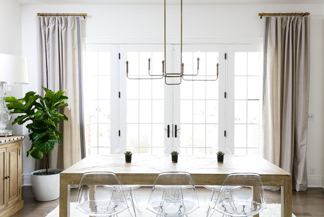 Dining room curtain ideas. Dining room curtains. Dining room curtain ideas #Diningroomcurtains Ramage Company Leslie Cotter Interiors, LLC