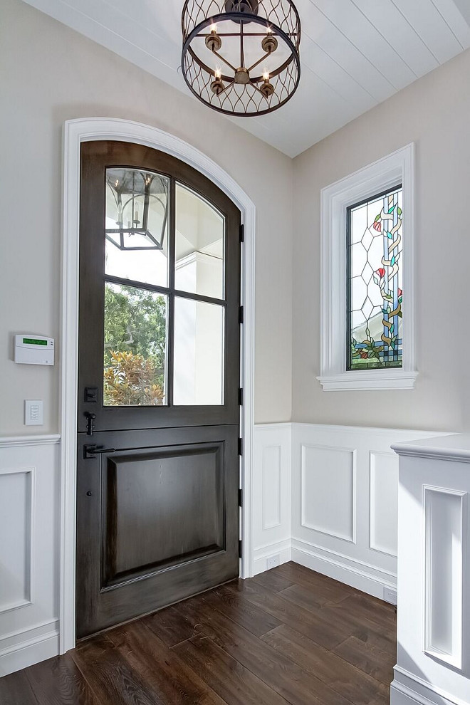 Dutch Door. Front door is a custom Dutch door with upper glass. Dutch Door. Front door. Dutch Door. Front door. Dutch Door. Front door #DutchDoor #Frontdoor Brandon Architects, Inc.