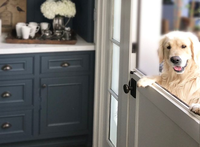 Dutch Doors. Kitchen Dutch Door Ideas. We included a Dutch door that I adore, and is the favorite spot for Oliver to see what's happening in the kitchen. Kitchen Dutch Doors. Dutch Doors #DutchDoor #DutchDoors #KitchenDutchDoor Beautiful Homes of Instagram @SanctuaryHomeDecor