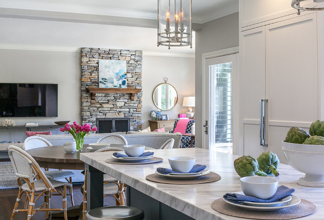 Eat in kitchen opens to family room. Eat in kitchen opening to family room layout. Eat in kitchen opens to family room. Eat in kitchen opening to family room layout ideas #Eat in kitchen opens to family room. Eat in kitchen opening to family room layout #Eatinkitchen #kitchen #familyroom #kitchenfamilyroom kitchenfamilyroomlayout Christine Sheldon Design