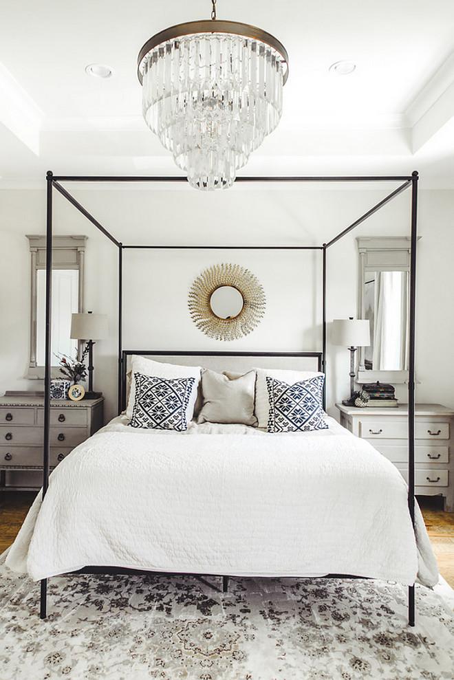 Farmhouse Bedroom. Neutral Farmhouse Bedroom. White and black farmhouse bedroom #FarmhouseBedroom #NeutralFarmhouseBedroom #blackandwhitefarmhousebedroom #bedroom #farmhouse Allegiance Builders