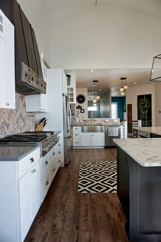 Herringbone Backsplash Kitchen