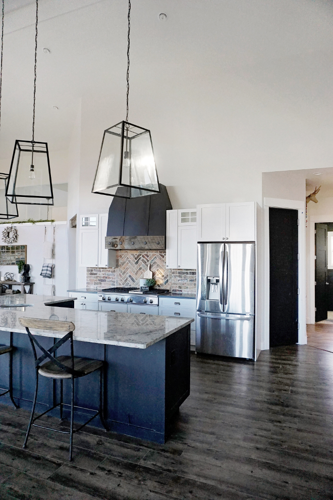 Farmhouse Kitchen Lighting. Our pendants are large, bold and modern. I wanted them to make a statement and we just LOVE them! They are from Ballard Designs. Farmhouse Kitchen Lighting. Farmhouse Kitchen Lighting. Farmhouse Kitchen Lighting Farmhouse Kitchen Lighting #FarmhouseKitchenLighting #FarmhouseKitchen #kitchenLighting Home Bunch's Beautiful Homes of Instagram @household no.6