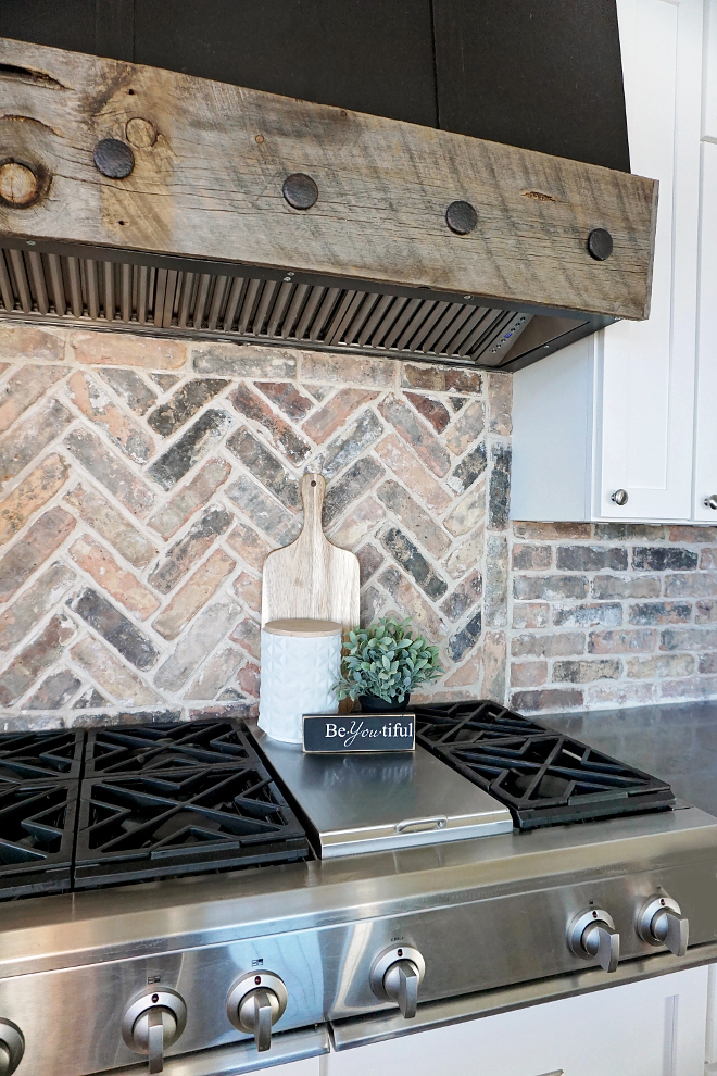 Farmhouse Kitchen Rustic Reclaimed Kitchen Hood and Herringbone Brick Backsplash. We knew we wanted a timeless backsplash and fell in love in with this old chicago exposed brick! We used a herringbone pattern behind the range to add dimension and finished with a brick pattern in the rest of the kitchen. Farmhouse Kitchen Rustic Reclaimed Kitchen Hood and Herringbone Brick Backsplash. Farmhouse Kitchen Rustic Reclaimed Kitchen Hood and Herringbone Brick Backsplash. Farmhouse Kitchen Rustic Reclaimed Kitchen Hood and Herringbone Brick Backsplash #FarmhouseKitchen #FarmhouseKitchen #FarmhouseKitchen #FarmhouseKitchen #Farmhouse #Kitchen #RusticHood #ReclaimedKitchenHood #ReclaimedHood #RusticHood #Rusticwood #ReclaimedWood #HerringboneBrickBacksplash #HerringboneBrickBacksplash #HerringboneBrickBacksplash #HerringboneBrick #BrickBacksplash #Herringbone #Brick #Backsplash Home Bunch's Beautiful Homes of Instagram @household no.6