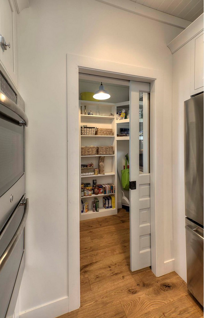 Farmhouse Pantry with sliding pocket door. Farmhouse Pantry with sliding pocket door ideas. Farmhouse Pantry with sliding pocket door #Farmhouse #Pantry #farmhousepantry #kitchenpantry #slidingpocketdoor #slidingdoor #pocketdoor Kitchen Choreography