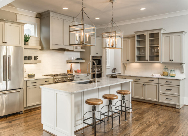 Grey Farmhouse Kitchen with Shaker Cabinets. Grey Shaker cabinet. Grey Farmhouse Kitchen. Grey shaker kitchen cabinet #GreyFarmhouseKitchen #ShakerCabinets #GreyShakercabinet #GreyFarmhouseKitchencabinet #shakerkitchencabinet #shakercabinet #shakerfarmhousekitchen Domaine Development