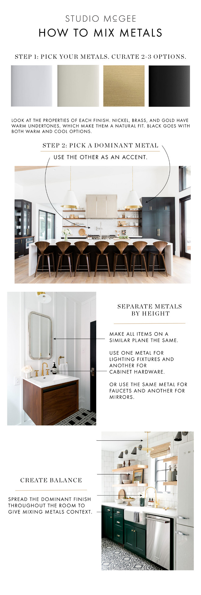 How to Mix Metal Finishes. How to Mix Metal Finishes Tips. How to Mix Metal Finishes. How to Mix Metal Finishes. How to Mix Metal Finishes #HowtoMixMetalFinishes #MixMetalFinishes #MetalFinishesTips Via Studio McGee