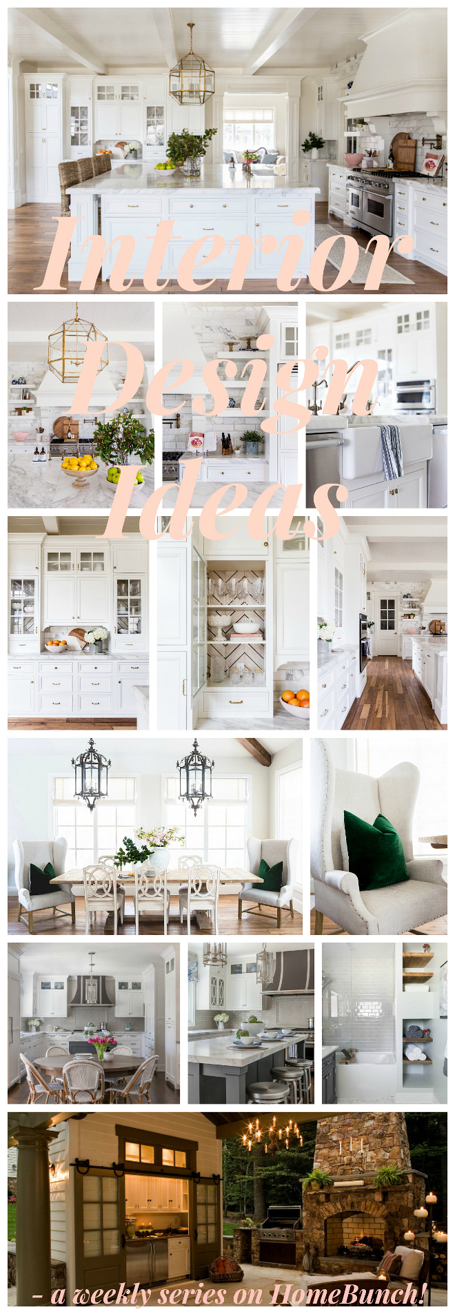 Interior Design Ideas - a weekly series on Home Bunch