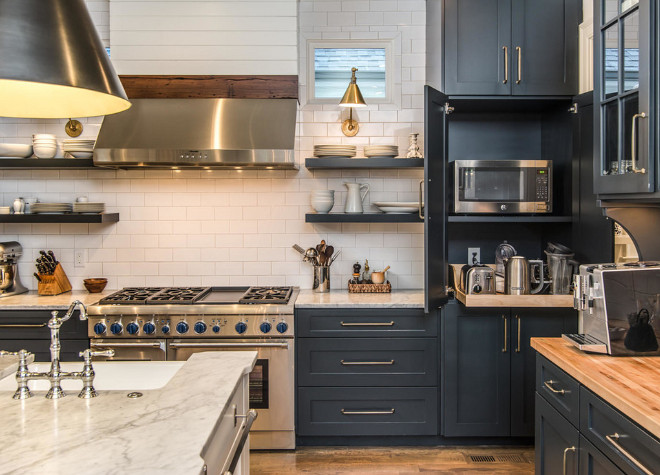 Kitchen Appliance Garage Ideas. Hidden appliances. Kitchen Appliance Garage Ideas #Hiddenappliances #Kitchen #ApplianceGarage #ApplianceGarageIdeas Domaine Development