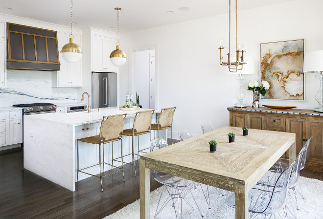 Kitchen Island and Kitchen Nook Layout. Kitchen Island and Kitchen Nook Layout Ideas. Open Kitchen Island and Kitchen Nook Layout #KitchenIsland #KitchenNook #KitchenLayout Hudson Valley Lighting Leslie Cotter Interiors, LLC. Ramage Company