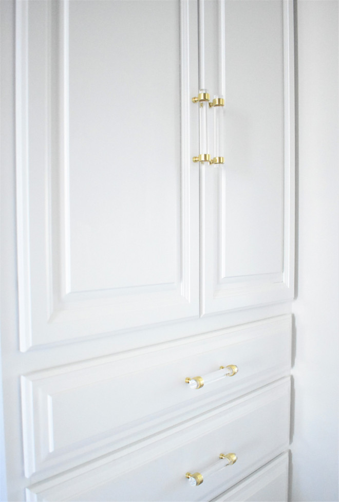 Lucite Pulls. Lucite Cabinet Hardware. The closet doors feature lucite pulls. They're from Luxholdups Home. Lucite Hardware. Lucite Pulls. Lucite Cabinet Hardware. Lucite Hardware Ideas Lucite #LucitePulls #lucite #pulls #LuciteCabinetHardware #CabinetHardware #LuciteHardware #Hardware Kate Abt Design
