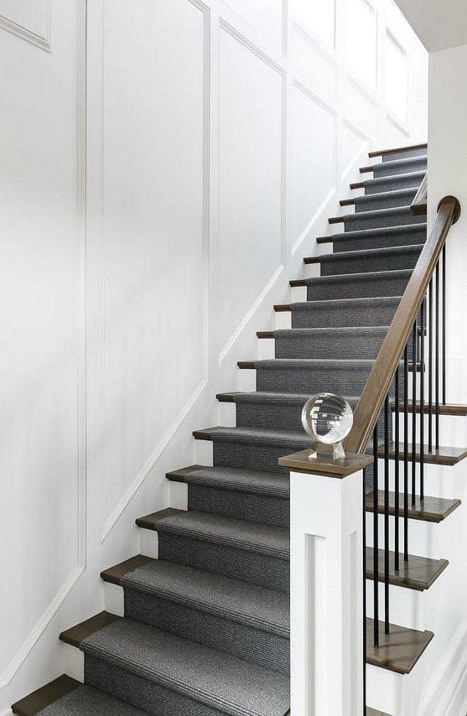 Lucite ball finial. I found the lucite ball finial for the newel post at Homegoods #Lucite #ballfinial Ramage Company. Leslie Cotter Interiors, LLC