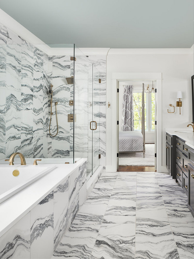 Marble Bathroom. Marble Bathroom. Stunning master bathroom with floor-to-ceiling marble tile. Marble Bathroom. Marble Bathroom. Marble Bathroom. Marble Bathroom. <Marble Bathroom>#MarbleBathroom #Marble #Bathroom Willow Homes
