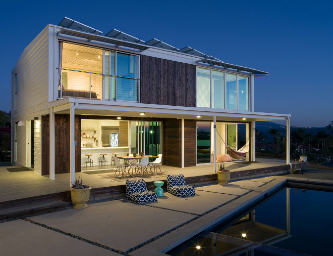 Modern Beach House with Solar Pannels. Modern Beach House with Solar Pannel Ideas #ModernBeachHouse #SolarPannels Connect Homes