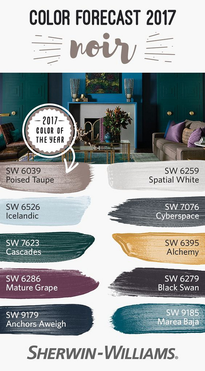 New Sherwin Williams Paint Colors. New Sherwin Williams Color Palette. Sherwin Williams SW 6039 Poised Taupe. Sherwin Williams SW 6559 Spatial White. Sherwin Williams SW 6526 Icelandic. Sherwin Williams SW 7076 Cyberspace. Sherwin Williams SW 7623 Cascades. Sherwin Williams SW 6395 Alchemy. Sherwin Williams SW 6286 Mature Grape. Sherwin Williams SW 6276 Black Swan. Sherwin Williams SW 9179 Anchors Aweigh. Sherwin Williams SW 9185 Marea Baja. New Sherwin Williams Colors #NewSherwinWilliamsPaintColors #NewSherwinWilliamsColorPalette #SherwinWilliamsColors #SherwinWilliamsPaintColors #SherwinWilliamsColorPalette #SherwinWilliamsColors #Paintcolors #colorpalette #colors Via Sherwin Williams
