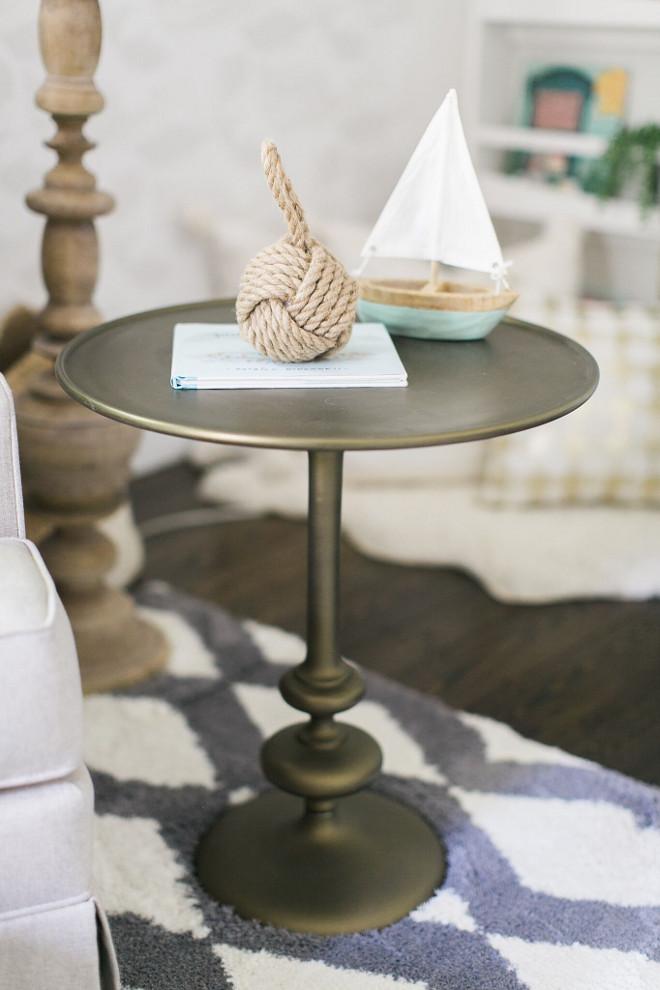 Nursery side table. Nursery side table ideas. The side table is from Anthropologie. Nursery side table #Nurserysidetable #sidetable Home Bunch Beautiful Homes of Instagram @finding__lovely
