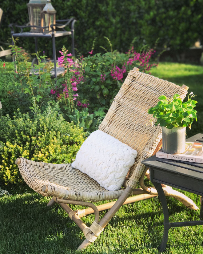 Outdoor Chair. Garden Chair Ideas. Gardening and furniture ideas. Garden chair. #gardenchair #outdoors #outdoorchair Beautiful Homes of Instagram @SanctuaryHomeDecor