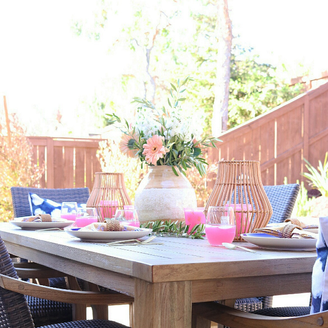 Outdoor Styling Ideas. Outdoor Styling Outdoor Styling. Outdoor table is from Costco and the decor is from HomeGoods and World Market. Outdoor Styling Ideas #OutdoorStyling #OutdoorStylingIdeas Jordan from @house.becomes.home