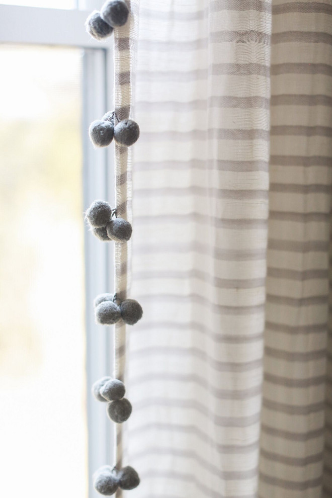 Pom Pom Curtains. Grey Pom Pom Curtains. Anthropologie Pom Pom Curtains #PomPomCurtains #GreyPomPomCurtains #Anthropologie #AnthropologiePomPomCurtains Home Bunch Beautiful Homes of Instagram @finding__lovely