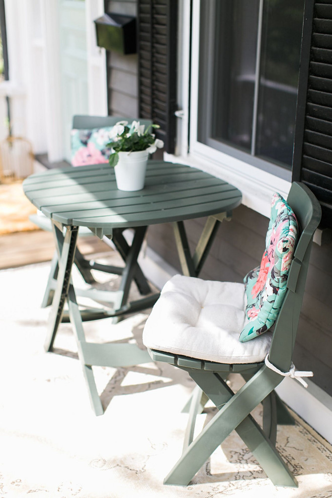 Porch Bistro Set. Porch Bistro Set ideas. The table and chairs are from Wayfair. #Porch #BistroSet Home Bunch Beautiful Homes of Instagram @finding__lovely