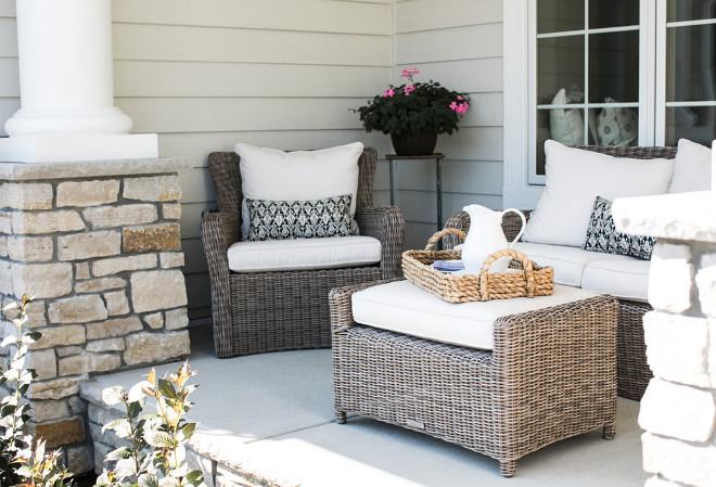Porch Furniture and decor. The porch furniture is by Summer Classics. Porch Furniture and decor ideas. Porch Furniture and decor. #PorchFurniture #porchdecor #porch Bria Hammel Interiors
