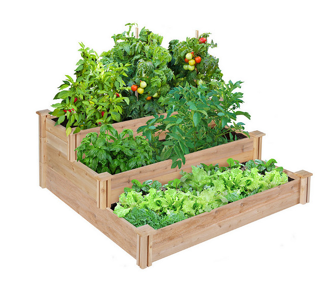 Raised 3-Tier Cedar Garden Bed. Raised 3-Tier Cedar Garden Bed Ideas. Raised 3-Tier Cedar Garden Bed #Raised3TierCedarGardenBed #GardenBed #GardenBedding